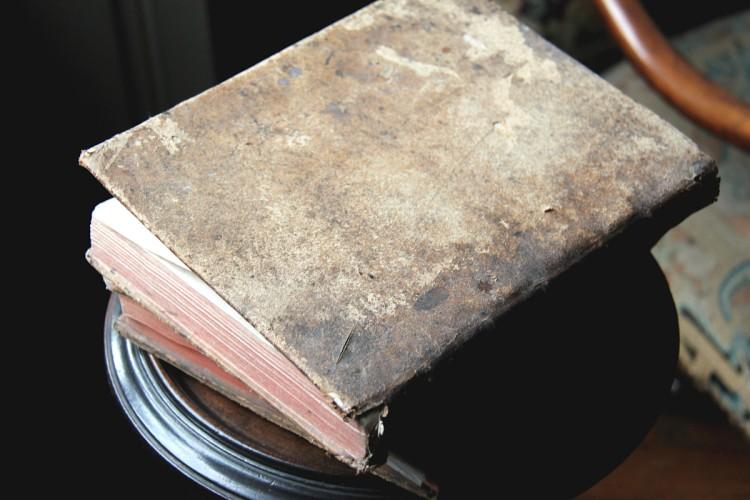 Livres dans la salle Tonnay-Charente du musée Dupuy-Mestreau